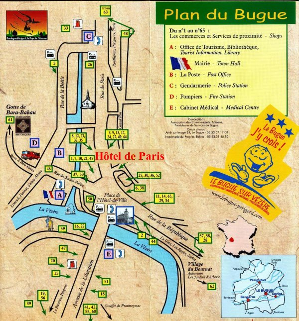 plan acces hotel le bugue
